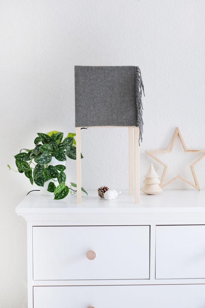 DIYnachten - Türchen 15 - DIY Lampe aus Holzleisten und Stoff - Gingered Things